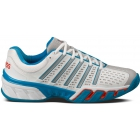 K-Swiss Men's Bigshot 2.5 Tennis Shoes (White/ Blue/ Gray) - K-Swiss