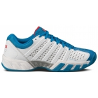 K-Swiss Men's Bigshot Light 2.5 Tennis Shoes (White/ Blue/ Silver) - K-Swiss