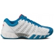 K-Swiss Men's Bigshot Light 2.5 Tennis Shoe (White/ Blue/ Silver) - Lightweight Tennis Shoes