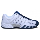 K-Swiss Men's Bigshot Light 2.5 Tennis Shoes (White/Electric Blue/Silver) - Lightweight Tennis Shoes