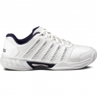 K-Swiss Men's Express Leather Tennis Shoes (White/ Navy) - Men's Tennis Shoes