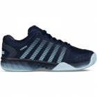 K-Swiss Men's Hypercourt Express Tennis Shoes (Black Iris/Blue Glow) - K-Swiss