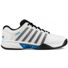 K-Swiss Men's Hypercourt Express Tennis Shoes (White/Black/Brilliant Blue) - Discount Prices on K-Swiss Tennis Shoes