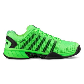 K-Swiss Men's Hypercourt Express Tennis Shoes (Neon Lime/Black)