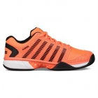 K-Swiss Men's Hypercourt Express Tennis Shoes (Neon Blaze/White/Black) - Discount Prices on K-Swiss Tennis Shoes