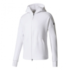 Adidas Men's N.Z.E. Tennis Warm-up Hoodie (White) - Adidas Men's Tennis Jackets, Pants and Sweats