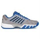 K-Swiss Men's Bigshot Light 3 Tennis Shoes (Titanium/Black/Strong Blue) - Men's Tennis Shoes