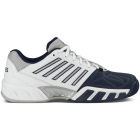 K-Swiss Men's Bigshot Light 3 Tennis Shoes (White/Navy) - K-Swiss Bigshot Tennis Shoes