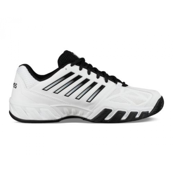 K-Swiss Men's Bigshot Light 3 Tennis Shoes (White/Black)