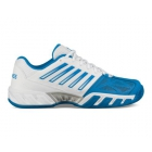 K-Swiss Men's Bigshot Light 3 Tennis Shoes (White/Brilliant Blue/Black) - Tennis Shoes