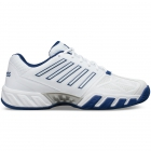 K-Swiss Men's Bigshot Light 3 Tennis Shoes (White/Limoges/Silver) - New Tennis Shoes