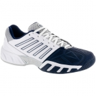 K-Swiss Men's Bigshot Light 3 Tennis Shoes (White/Navy) - Lightweight Tennis Shoes