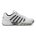 K-Swiss Men's Bigshot Light Leather Tennis Shoes (White/Black/Silver) - K-Swiss Bigshot Tennis Shoes