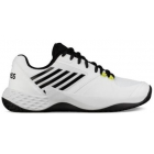 K-Swiss Men's Aero Court Tennis Shoes (White/Black/Neon Yellow) - K-Swiss Aero Court Tennis Shoes