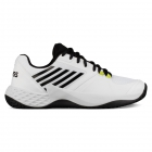 K-Swiss Men's Aero Court Tennis Shoes (White/Black/Neon Yellow) - Labor Day Sale! Discount Prices on Men's Tennis Shoes