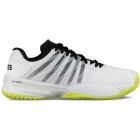 K-Swiss Men's Ultrashot 2 Tennis Shoes (White/Black/Neon Yellow) - K-Swiss