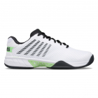 K-Swiss Men's Hypercourt Express 2 Tennis Shoes (White/Blue Graphite/Soft Neon Green) -
