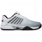 K-Swiss Men's Hypercourt Express 2 Tennis Shoe, White/Highrise/Black -