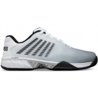 K-Swiss Men's Hypercourt Express 2 Tennis Shoe, White/Highrise/Black - Performance Tennis Shoes