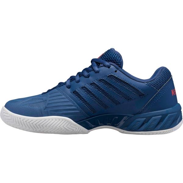 K-Swiss Kid's Bigshot Light 3 Junior Tennis Shoes, Dark Blue/Bittersweet/White