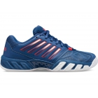 K-Swiss Kid's Bigshot Light 3 Junior Tennis Shoes, Dark Blue/Bittersweet/White - K-Swiss Junior Tennis Shoes