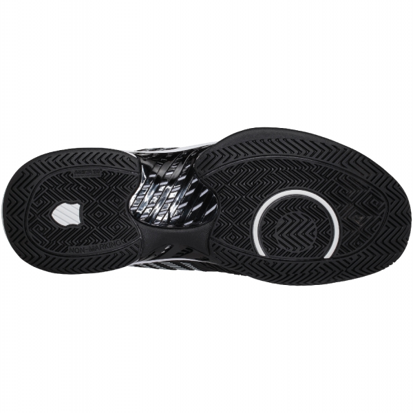 K-Swiss Men's Hypercourt Supreme Tennis Shoes, Black/White