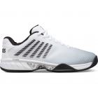 K-Swiss Men's Hypercourt Express 2 2E Wide Tennis Shoes, White/Highrise/Black -