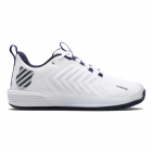 K-Swiss Men's Ultrashot 3 Tennis Shoes (White/Peacoat/Silver) -