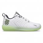 K-Swiss Men's Ultrashot 3 Tennis Shoes (White/Soft Neon Green/Blue Graphite) -