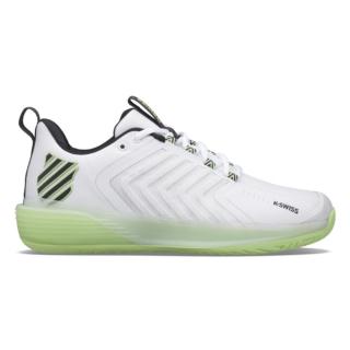 06988-191 K-Swiss Men's Ultrashot 3 Tennis Shoes (White/Soft Neon Green/Blue Graphite)