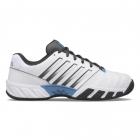 K-Swiss Men's Bigshot Light 4 Tennis Shoes (White/Dark Shadows/Swedish Blue) -