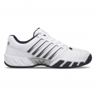 K-Swiss Men's Bigshot Light 4 Tennis Shoes (White/Peacoat/Silver) -