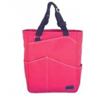 Maggie Mather Tennis Tote with Zipper Closure (Coral) - Maggie Mather