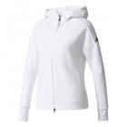 Adidas Women's Z.N.E. Tennis Warm-up Hoodie (White) - Adidas Tennis Apparel