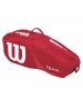 Wilson Team II Red 3 Pack Tennis Bag (Red/ White) - Wilson Tennis Bags