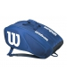 Wilson Team II Navy 12 Pack Tennis Bag (Navy/White) - Wilson Tennis Bags