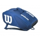 Wilson Team II Navy 12 Pack Tennis Bag (Navy/White) - Tennis Racquet Bags