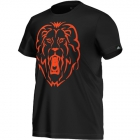 Adidas Alexander Lion Graphic Tee (Black/ Orange) - Discount Tennis Apparel