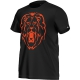 Adidas Alexander Lion Graphic Tee (Black/ Orange) - Men's Tops Tennis Apparel
