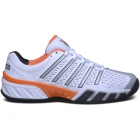 K-Swiss Men's Bigshot 2.5 Tennis Shoes (White/Black/Vibrant Orange) - K-Swiss