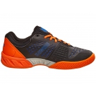 K-Swiss Men's Bigshot Light 2.5 Tennis Shoes (Black/Vibrant Orange/Electric Blue) - Lightweight Tennis Shoes