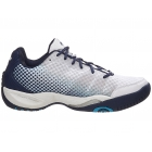 Prince Men's T22 Lite Tennis Shoes (White/Navy/Cool Blue) - Lightweight Tennis Shoes