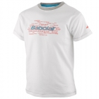 Babolat Boys' Core Tennis Tee (White) - Boy's Tennis Apparel