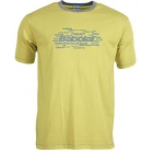 Babolat Boys' Core Tennis Tee (Yellow) - Discount Tennis Apparel
