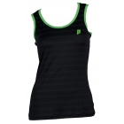 Prince Women's Tank Top (Black/ Green) - Prince Tennis Apparel