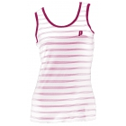 Prince Women's Tank Top (White/ Berry) - Prince Tennis Apparel