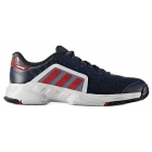 Adidas Men's Barricade Court 2 Tennis Shoe (Navy/Red/White) - Men's Tennis Shoes
