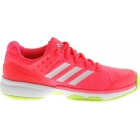 Adidas Women's Adizero Ubersonic 2W Tennis Shoe (Flash Red/White/Yellow) - Adidas adiZero