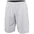 Adidas Men's Club Plaid Bermuda Short (White/ Black) - Tennis Apparel