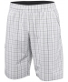 Adidas Men's Club Plaid Bermuda Short (White/ Black) - Men's Shorts Tennis Apparel